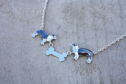 Large Border Collie Necklace