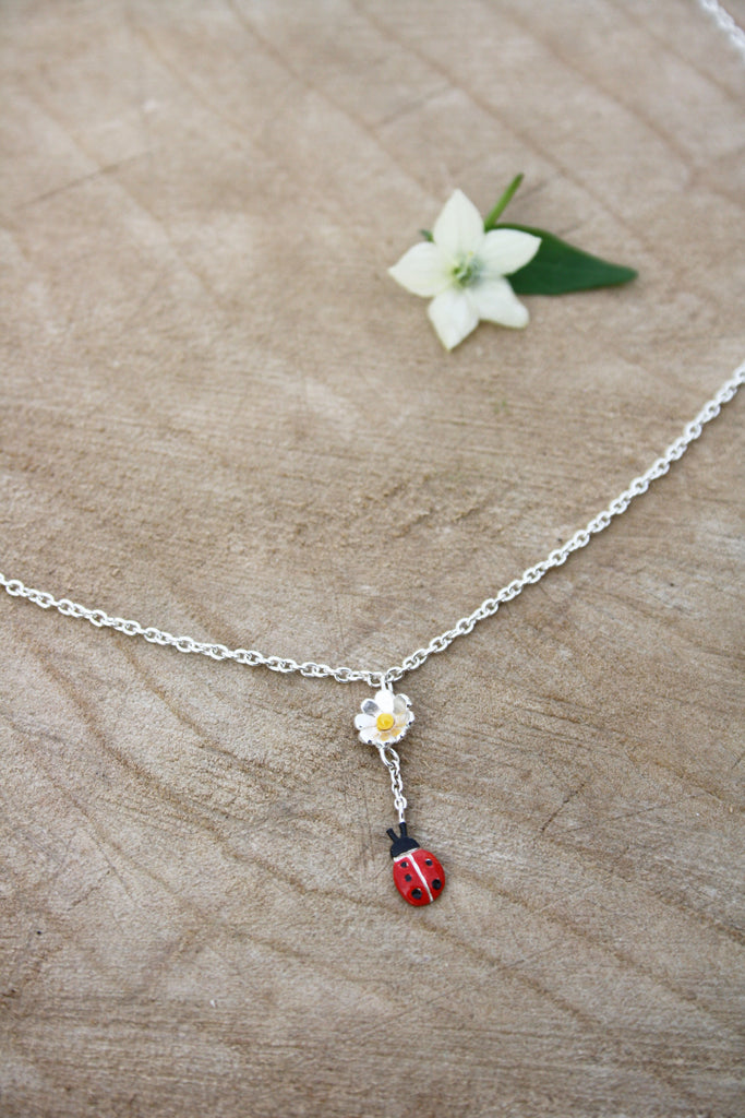 Single Ladybird Drop Necklace