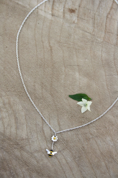 Single Bee Drop Necklace