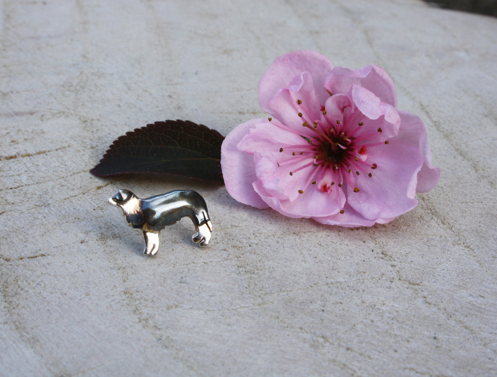Border Collie Tie Pin