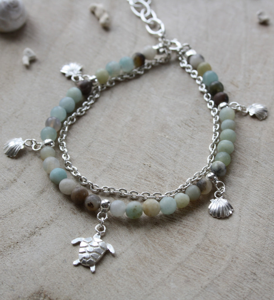 Turtle and Amazonite bracelet