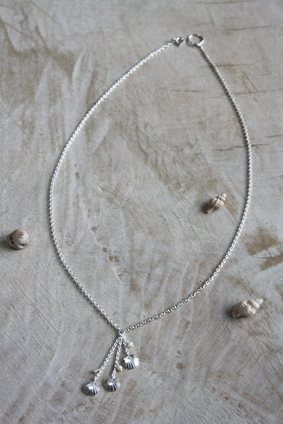 Clam Shell Drop Necklace
