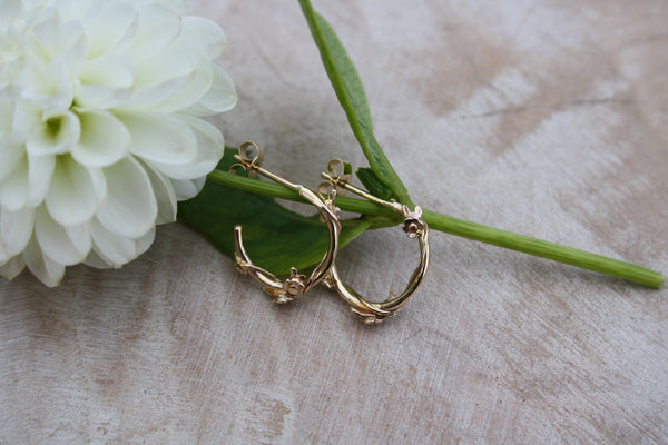 Flower Garland Hoops (gold)