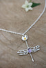Single Dragonfly Drop Necklace