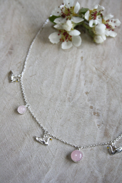 Swan Drop Necklace