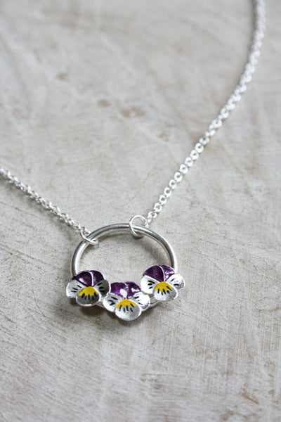 Pansy Ring Necklace