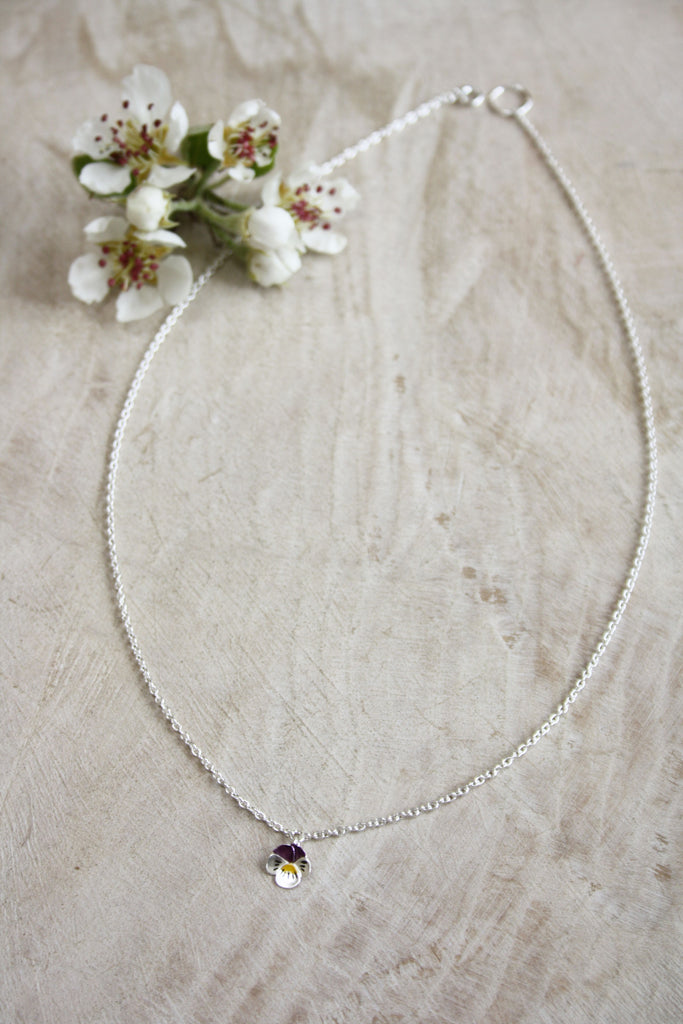 Single Pansy Necklace