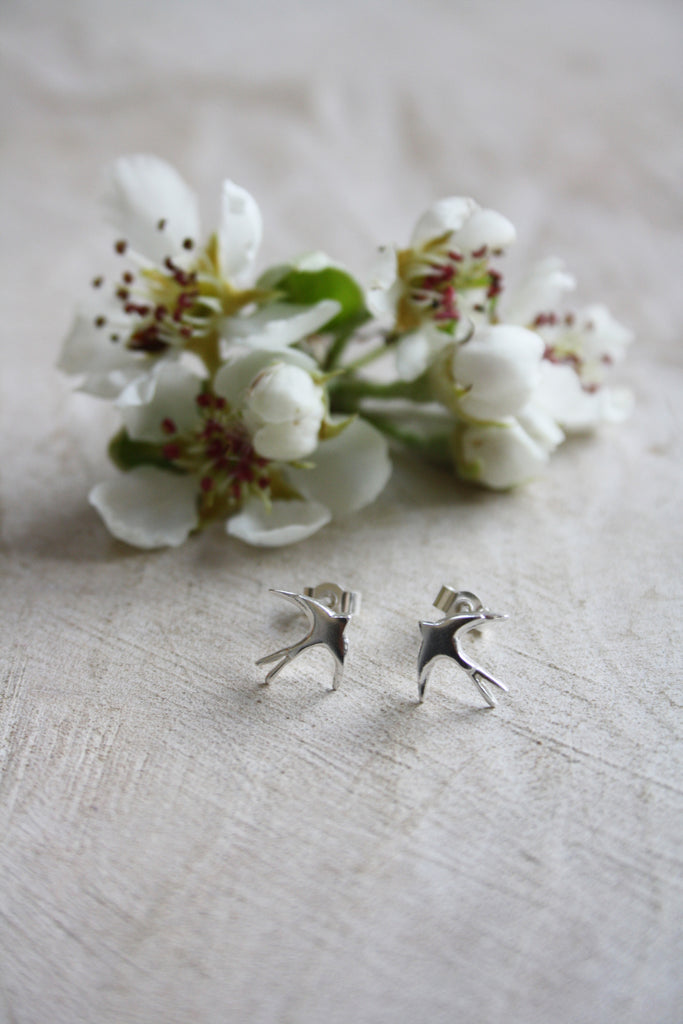 Swallow Studs Silver