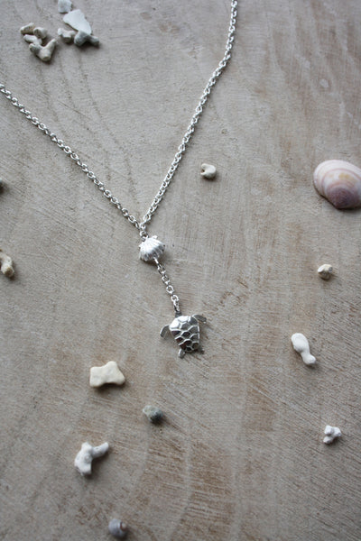 Turtle and Clam Shell Necklace