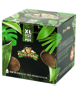 Cocopalm 1kg XL Size Kokosnuss, 26mm Naturkohle, BOX