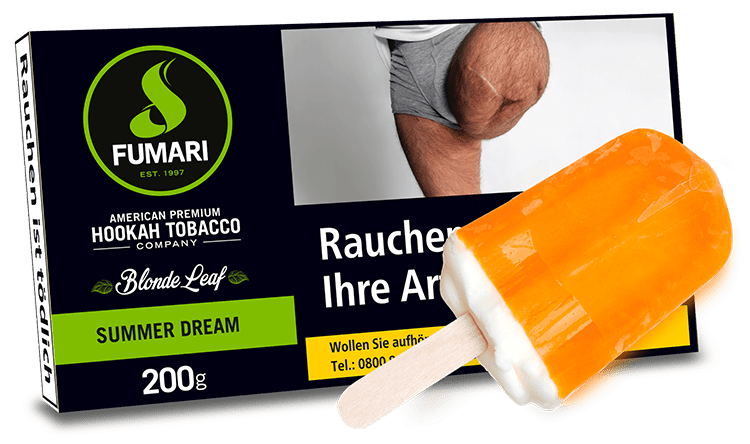 FUMARI Tabak 200g SUMMER DREAM (Orange Cream) - Orangen-Eiscreme - HOOKAH BLACK