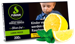 FUMARI Tabak 200g LUMIN FREEZE (Lemon Mint) - Zitrone, Minze - HOOKAH BLACK