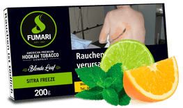FUMARI Tabak 200g SITRA FREEZE (Citrus Mint) - Zitrusmix, Minze - HOOKAH BLACK