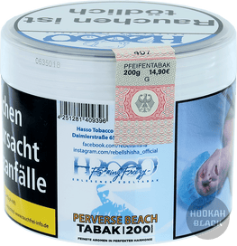 HASSO F@*#ING Freezy Tabak 200g Perverse Beach - Pfirsich, Menthol