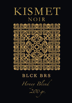 KISMET NOIR 24 Honey Blend Edition - BLCK BRS - HOOKAH BLACK