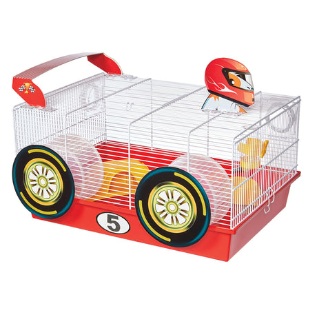 "Midwest Critterville Race Car Hamster Home White, Red 19.5"" x 13.8"" x 9.8"" - ViTaiLity Pet Supply"
