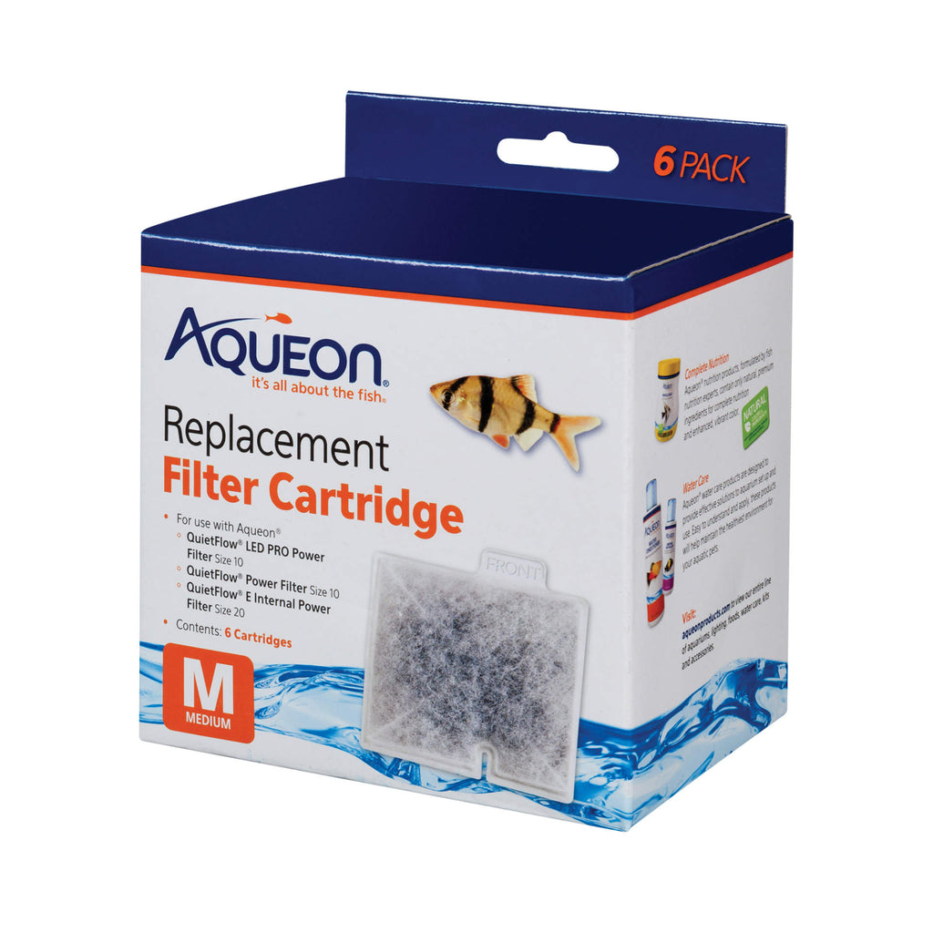 "Aqueon Replacement Filter Cartridges 6 pack Medium 4.9"" x 2"" x 5.7"" - ViTaiLity Pet Supply"