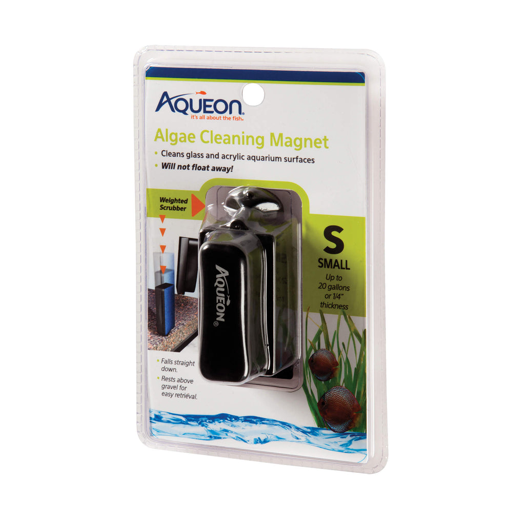 "Aqueon Algae Cleaning Magnets Small Black 4.6"" x 2.5"" x 7.5"" - ViTaiLity Pet Supply"