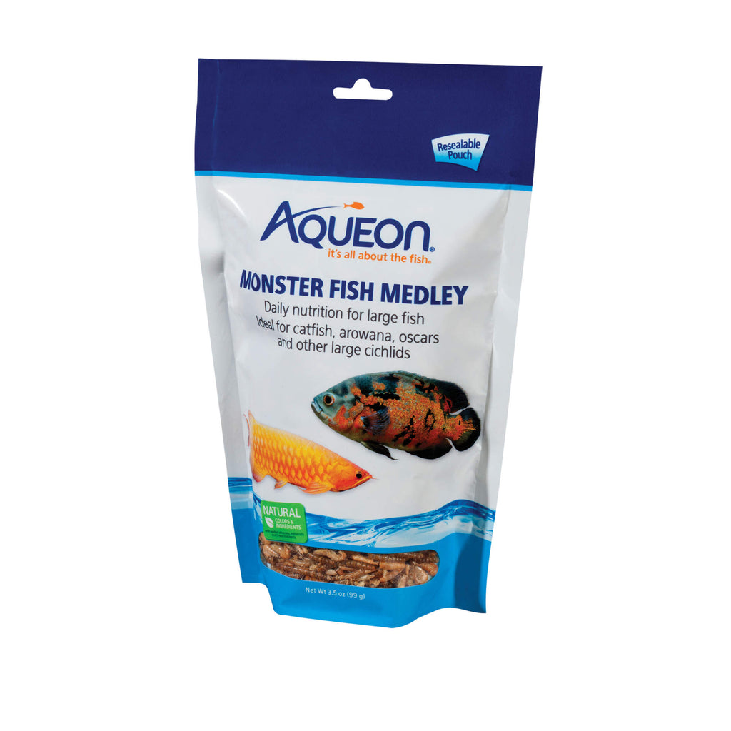 Aqueon Monster Fish Medley Food 3.5 ounces - ViTaiLity Pet Supply