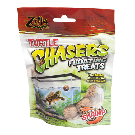 "Zilla Turtle Chasers Floating Treats Shrimp 2 ounces 5.125"" x 1.75"" x 6.5"" - ViTaiLity Pet Supply"