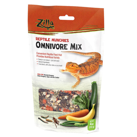 "Zilla Reptile Munchies Omnivore 4 ounces 5.875"" x 2.75"" x 9.5"" - ViTaiLity Pet Supply"