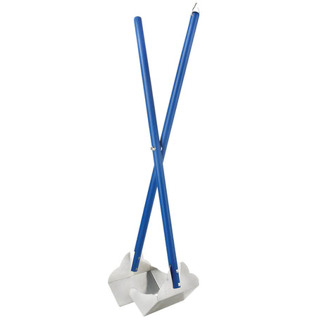 "Four Paws Sanitary Pooper Scooper Plain Scoop Blue 5.25"" x 7"" x 33.5"" - ViTaiLity Pet Supply"