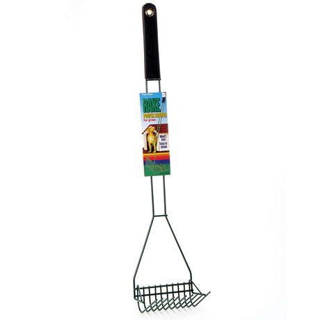 "Four Paws Wire Rake Scooper for Grass Black 5"" x 6.13"" x 29.5"" - ViTaiLity Pet Supply"