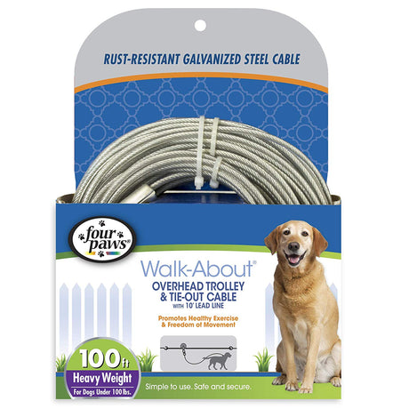 Four Paws Heavy Weight Trolley Exercises 100 feet - ViTaiLity Pet Supply