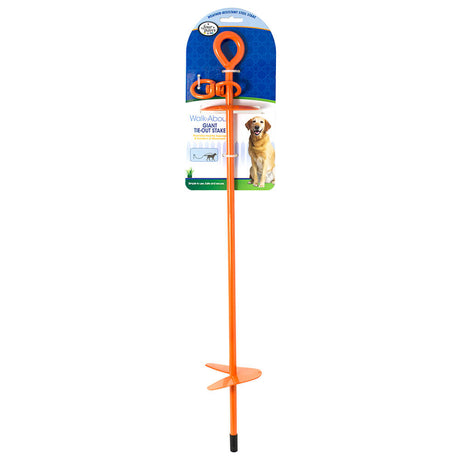 "Four Paws Giant Tie-Out Stake Orange 5.90"" x 4"" x 29"" - ViTaiLity Pet Supply"
