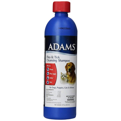Adams Flea and Tick Cleansing Shampoo 12 ounces - ViTaiLity Pet Supply