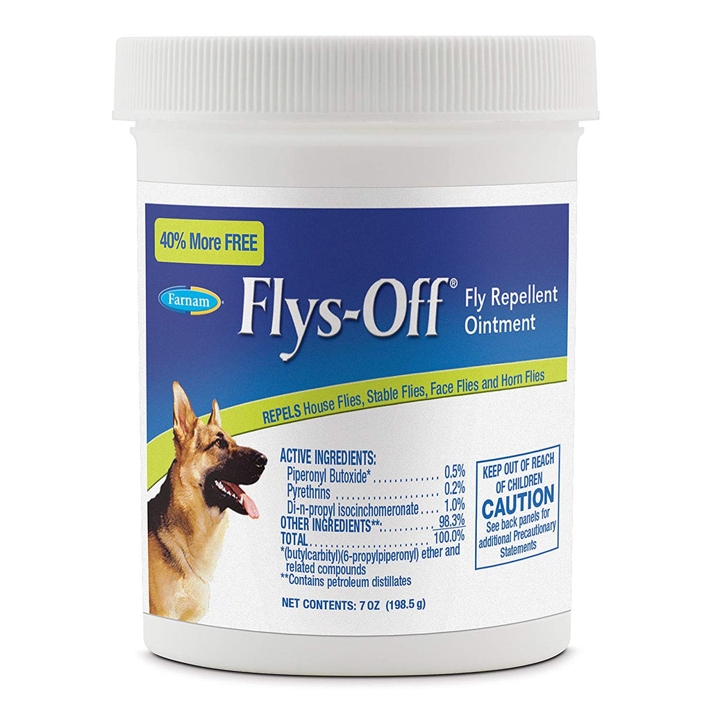 Farnam Flys Off Fly Repellent Ointment 7 ounces - ViTaiLity Pet Supply