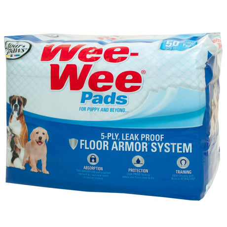 "Four Paws Wee-Wee Pads 50 pack White 22"" x 23"" x 0.1"" - ViTaiLity Pet Supply"