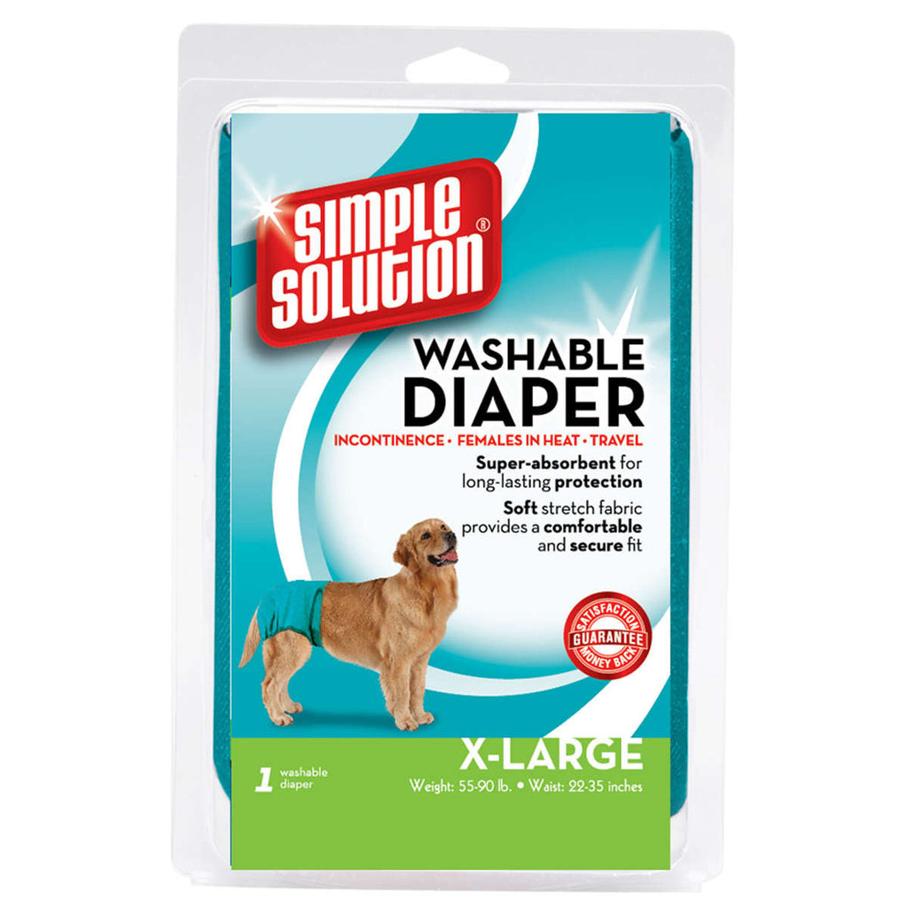 Simple Solution Washable Dog Diaper Extra Large Teal - ViTaiLity Pet Supply