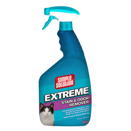 "Simple Solution Extreme Cat Stain and Odor Remover 32oz 2.9"" x 4.8"" x 10.75"" - ViTaiLity Pet Supply"