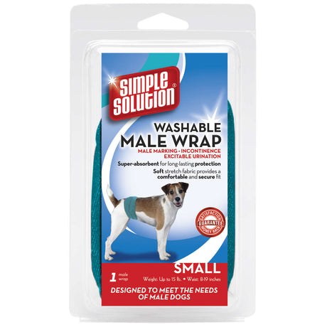 Simple Solution Washable Male Dog Wrap Small Teal - ViTaiLity Pet Supply