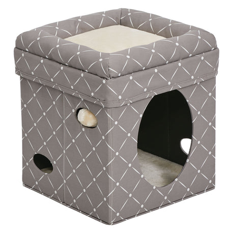 "Midwest Curious Cat Cube Mushroom 15.13"" x 15.13"" x 16.50"" - ViTaiLity Pet Supply"