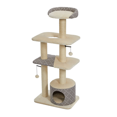 "Midwest Feline Nuvo Tower Car Furniture Mushroom 22"" x 15"" x 50.5"" - ViTaiLity Pet Supply"