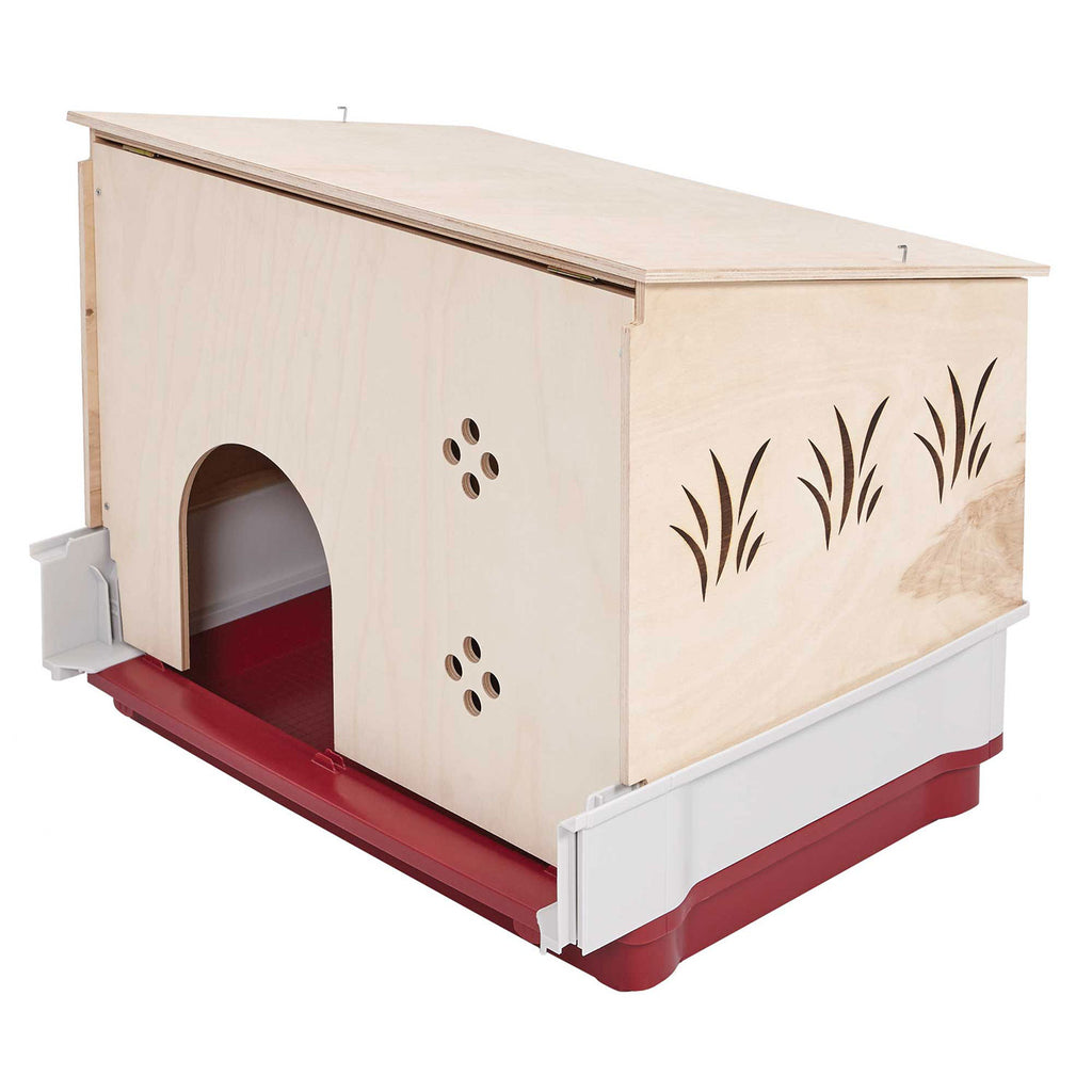 "Midwest Wabbitat Deluxe Rabbit Home Wood Hutch Extension Wood 37"" x 19"" x 20"" - ViTaiLity Pet Supply"