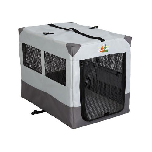 "Midwest Canine Camper Sportable Crate Gray 31"" x 21.50"" x 24"" - ViTaiLity Pet Supply"