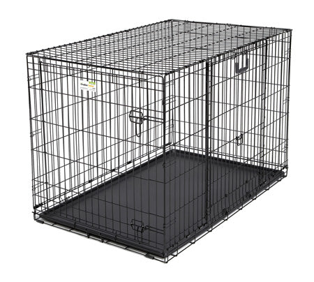 "Midwest Ovation Double Door Crate with Up and Away Door Black 25.50"" x 17.50"" x 19.50"" - ViTaiLity Pet Supply"