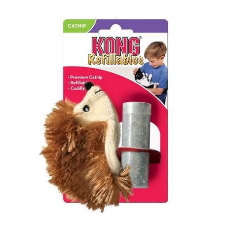 Kong Hedgehog Refillable Catnip Toy - ViTaiLity Pet Supply