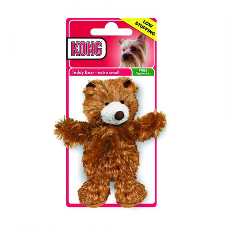 "Kong Plush Teddy Bear Dog Toy X-Small 3.5"" - ViTaiLity Pet Supply"