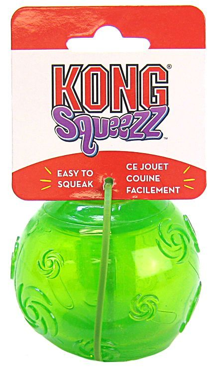 "Kong Squeezz Ball Dog Toy - Assorted Large 3"" Diameter - ViTaiLity Pet Supply"