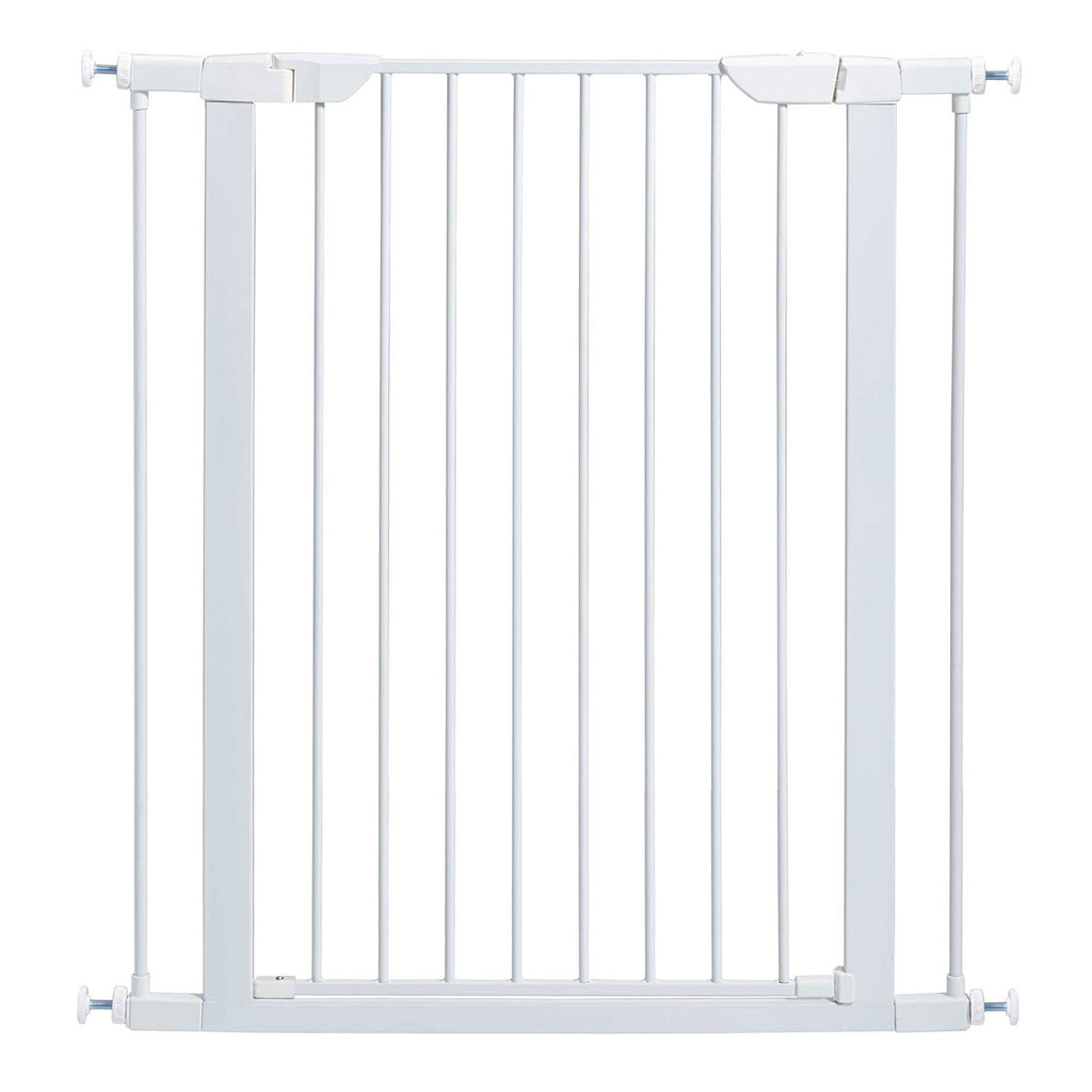 "Midwest Glow in the Dark Steel Pressue Mount Pet Gate Tall White 29.5"" - 38"" x 1"" x 39.13"" - ViTaiLity Pet Supply"