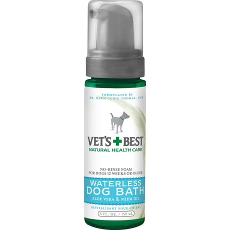 "Vet's Best Waterless Dog Bath 5oz Green 1.88"" x 1.88"" x 6.88"" - ViTaiLity Pet Supply"