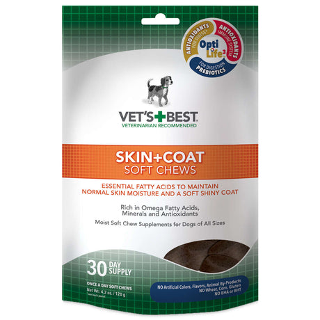 Vet's Best Skin and Coat Dog Soft Chews - ViTaiLity Pet Supply