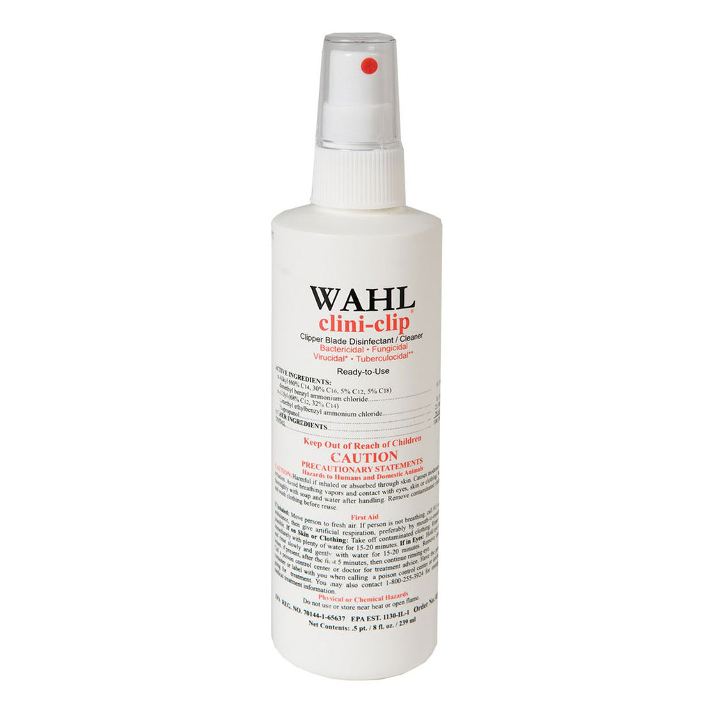 "Wahl Clini Clip Cleaner and Disinfectant 8 ounces White 6"" x 2"" x 2"" - ViTaiLity Pet Supply"