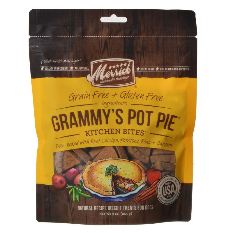Merrick Kitchen Bites Dog Treats - Grammy's Pot Pie - ViTaiLity Pet Supply