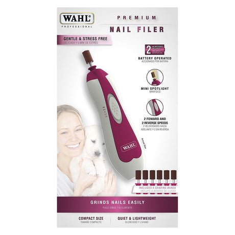 "Wahl Premium Nail Filer Purple 6"" x 1.5"" x 1.5"" - ViTaiLity Pet Supply"