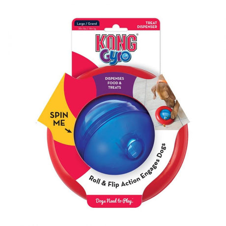 "Kong Gyro Dog Toy Large 6.8"" Diameter (Assorted Colors) - ViTaiLity Pet Supply"